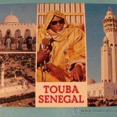 Postales: POSTAL DE SENEGAL, ÁFRICA. ESCENA VIVA. MEZQUITA DE TOUBA Y JEFE SUPREMO MOURIDES. 31. . Lote 31164298