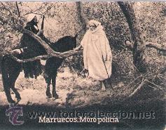 POSTAL ORIGINAL DECADA DE LOS 30. MARRUECOS. MORO POLICIA. Nº 1483. VER TAMAÑO Y EXPLICACION (Postales - Postales Extranjero - África)