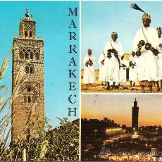 Postales: MARRAKECH, LA KOUTOUBIA, LES GNAOUA - CIRCULADA 1969. Lote 32117590