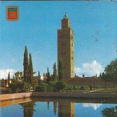Postales: +-+ PV 66 - POSTAL - MARRAKECH - LA KOUTOUBIA - ESCRITA. Lote 32262638