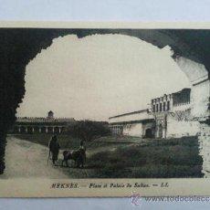 Postales: POSTAL MEKNES, PLAZA DEL PALACIO DEL SULTAN. Lote 32267541