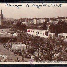 Postales: POSTAL FOTOGRAFICA TANGER - LE GRAN D'SOCCO ET LE PLATEAU DU MARSHAN. CENSURA GUBERNATIVA DE TANGER. Lote 32446740