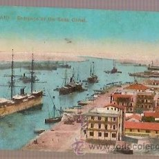Postales: POST CARD PORT SAID ENTRANCE OF THE SUEZ CANAL EGIPTO 1952 EDIT THE CAIRO POST PH N 0120. Lote 33662384