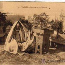Postales: TANGER 74 FATHMA SUR SA TERRASSE. AUN BON MATHURIN TANGER. SIN CIRCULAR. AFRICA. MARRUECOS.. Lote 33822697
