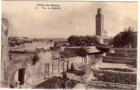 VILLES DU MAROC. 38 VUE DE MEKNES. SIN CIRCULAR. (Postales - Postales Extranjero - África)