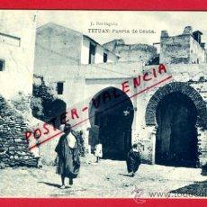 Postales: POSTAL TETUAN, MARRUECOS, PUERTA DE CEUTA, P72729. Lote 34247660