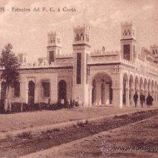Postales: MARRUECOS - TETUAN - ESTACION DE F.C. A CEUTA. Lote 34727008