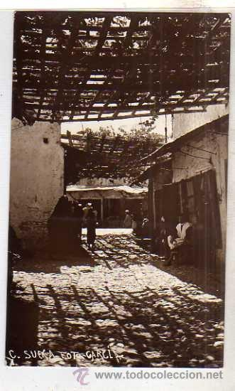 TETUAN CALLE SUECA MARRUECOS. SIN CIRCULAR. FOTO GARCIA. (Postales - Postales Extranjero - África)