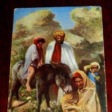 Postales: ANTIGUA POSTAL DE GRUPO DE MOROS, SERIE 1569 11, POSIBLEMENTE MARRUECOS, CIRCULADA.. Lote 34929417