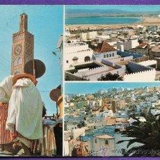 Postales: MARRUECOS - TANGER - VISTAS VARIAS - CIRCULADA - AÑOS 60. Lote 35608267
