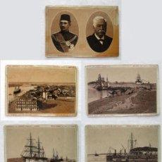 Postales: (BL-37) 13 VISTAS DEL CANAL DE SUEZ-PORT SAID-EGIPTO-CIRCA 1892- TEXTO EN 4 IDIOMAS. Lote 35960339