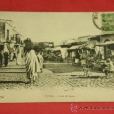 Postales: TÚNEZ TUNIS SOUK EL ASSAR CIRCULADA 16/6/1925 NEURDEIN FRÈRES. Lote 36273614