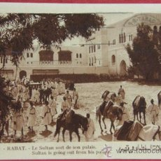 Postales: RABAT LE SULTAN SORT DE SON PALAIS CIRCULADA 30/10/1934 PHOTO FLANDRIN . Lote 36273704