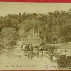 Postales: FEZ UN BRAS DE L'OUED ZITTOUN A.PLEUX EDIT. FEZ ESCRITA 1/1/1925 . Lote 36273832