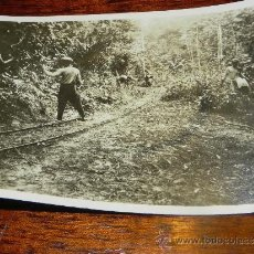 Postales: ANTIGUA FOTOGRAFIA DE GUINEA ECUATORIAL, COLONIA ESPAÑOLA, TRABAJOS DEL FERROCARRIL, MIDE 10,5 X 7,5. Lote 37440157