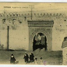 Postales: POSTAL TETUAN PUERTA DE TANGER MARRUECOS. Lote 37664036