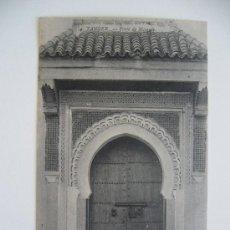 Postales: POSTAL 4. TÁNGER. PORTE DE MOSQUÉE. ED. A. JAHAN.. Lote 38301535