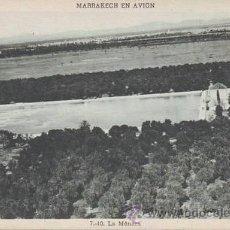 Postales: MARRAKECH EN AVION: LA MÉNARA. MARRUECOS. Lote 38765372
