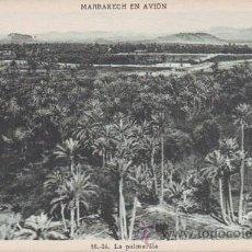 Postales: MARRAKECH EN AVION: LA PALMERAIE. MARRUECOS. Lote 38765528