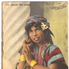 Postales: 714 - JEUNE FILLE ARABE - LEHNERT & LANDROCK, PHOT., TUNIS - FECHADA EN 1914. Lote 39440808