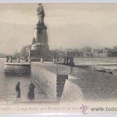 Postales: ANTIGUA POSTAL DE PORT SAID - LESSEPS ESTATUA Y ENTRADA AL CANAL DE SUEZ- CIRCULADA.. Lote 38240263