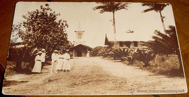 ANTIGUA POSTAL DE GUINEA ECUATORIAL ESPAÑOLA - RESIDENCIA DE LOS MISIONEROS DEL INMACULADO CORAZON (Postales - Postales Extranjero - África)