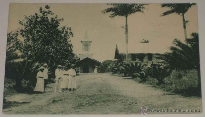 ANTIGUA POSTAL DE GUINEA CONTINENTAL - RESIDENCIA DE LOS MISIONEROS DEL INMACULADO CORAZON DE MARIA (Postales - Postales Extranjero - África)