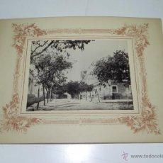 Postales: ANTIGUA FOTOGRAFIA ALBUMINA DE UNA CALLE DE LUANDA, ANGOLA, OLD PHOTOGRAPH ALBUMIN OF A STREET LOAND. Lote 38278652