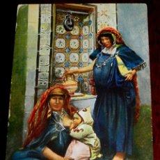 Postales: ANTIGUA POSTAL DE MUJERES ARABES, SERIE 1569 6, POSIBLEMENTE MARRUECOS, CIRCULADA.. Lote 38286682
