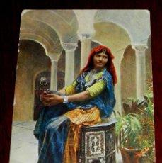 Postales: ANTIGUA POSTAL DE MUJER ARABE, SERIE 1569 1, POSIBLEMENTE MARRUECOS, CIRCULADA.. Lote 38286684
