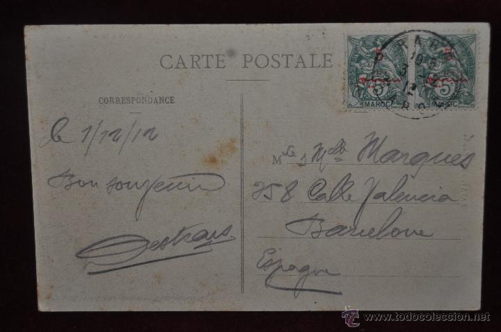 Postales: ANTIGUA POSTAL DE RABAT. MARRUECOS. RUE SOUIKA. P. SCHMITT. CIRCULADA - Foto 2 - 41131593