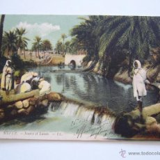 Postales: POSTAL TÚNEZ. NEFTA. SOURCE ET LAVOIR. CIRCULADA EN 1916.. Lote 42031265