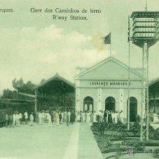 MOZAMBIQUE. PORTUGAL. ESTACION DE LOURENÇO MARQUES. TREN. HACIA 1910.