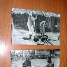 Postales: 2 POSTALES. Nº 21, 22. FERNANDO POO. FOTOS HERMINIO. AÑOS 1960. 1552.. Lote 42372845
