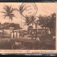 Postales: TARJETA POSTAL DE CAMERUN - CIRUCLADA DE CAMERUN A LAS PALMAS Y ENCAMINADA A MATANZAS, CUBA 1908. Lote 42588002