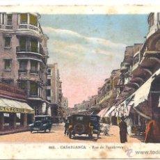 Postales: PS4394 CASABLANCA 'RUE DE BOUSKOURA'. ESCRITA AL DORSO. 1931. Lote 42771900