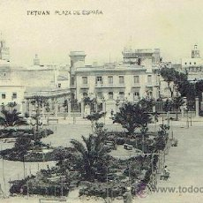 Postales: POSTAL DE TETUAN , PLAZA DE ESPAÑA. Lote 43078076