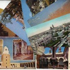 Postales: 16 POSTALES DE TUNEZ, LIBIA Y ARGELIA, AÑOS 60-70. LA MAYORIA SIN CIRCULAR. Lote 43413386
