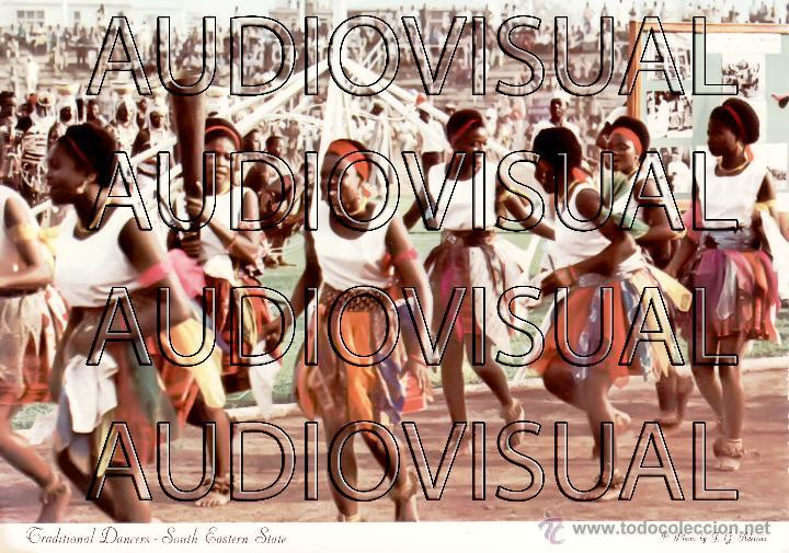 POSTAL BAILARINES TRADICIONALES - NIGERIA - SIN CIRCULAR Y SIN ESCRIBIR (Postales - Postales Extranjero - África)