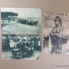 Postales: 3 ANTIGUA TARJETAS POSTALES .PABELLÓN COLONIAL EN LA EXPOSICIÓN ÍBERO-AMERICANA SEVILLA 1929 GUINEA. Lote 43501826