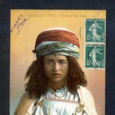 Postales: *FEMME DE BOU SAADA* SERIE SCÈNES ET TYPES. ED. LL. CIRCULADA 1910.. Lote 44712553