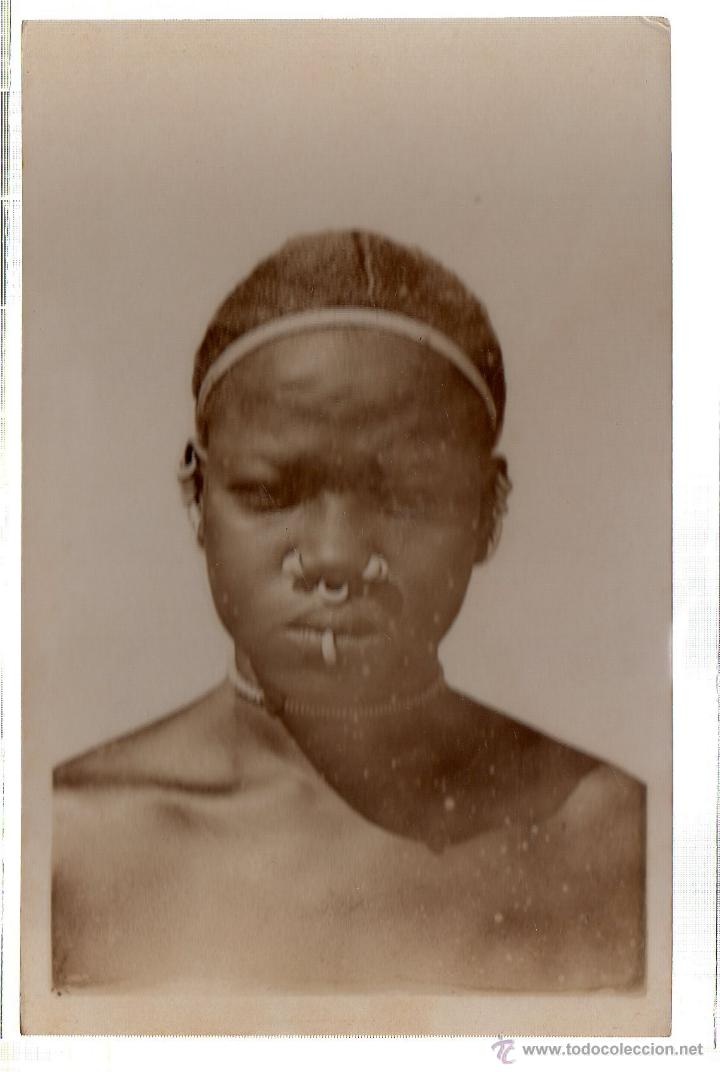 TARJETA POSTAL ETNICA COSTUMBRISTA DE LERAT. A.O.F. SOUDAN. FEMME HABBEY. Nº 14. (Postales - Postales Extranjero - África)