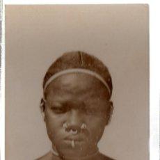 Postales: TARJETA POSTAL ETNICA COSTUMBRISTA DE LERAT. A.O.F. SOUDAN. FEMME HABBEY. Nº 14.. Lote 45792055