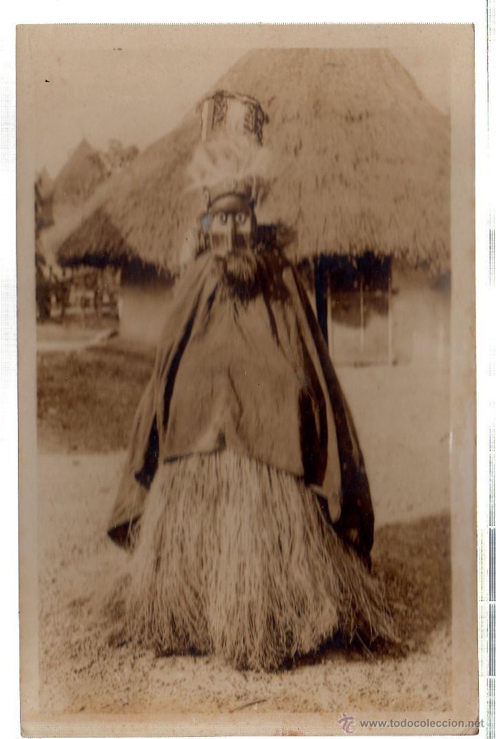 TARJETA POSTAL ETNICA COSTUMBRISTA DE LERAT. A.O.F. GUINEE. FETICHEUR GUERZE. Nº 1. (Postales - Postales Extranjero - África)