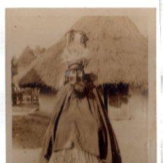 Postales: TARJETA POSTAL ETNICA COSTUMBRISTA DE LERAT. A.O.F. GUINEE. FETICHEUR GUERZE. Nº 1.. Lote 45792357
