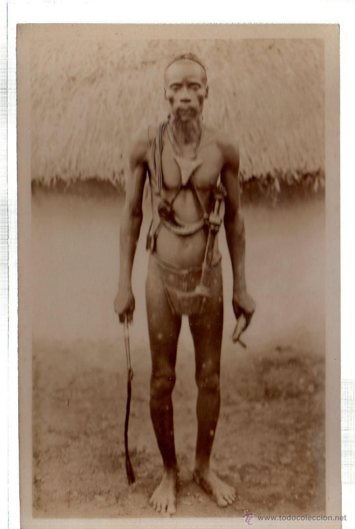 TARJETA POSTAL ETNICA COSTUMBRISTA DE LERAT. A.O.F. GUINEE. ANEIEN GUERRIER DE SAMORY. Nº 96. (Postales - Postales Extranjero - África)