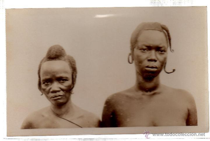 TARJETA POSTAL ETNICA COSTUMBRISTA DE LERAT. A.O.F. GUINEE. FEMMES MANON. Nº 52. (Postales - Postales Extranjero - África)