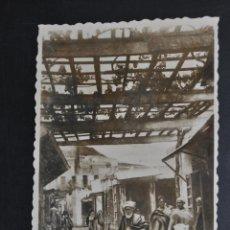 Postales: ANTIGUA FOTO POSTAL DE TETUAN. MARRUECOS. CALLE TÍPICA. ED. ARRIBAS. SIN CIRCULAR. Lote 46247140