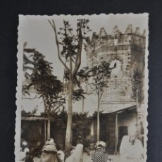 Postales: ANTIGUA FOTO POSTAL DE TETUAN. MARRUECOS. ZOCO DEL PAN. ED. ARRIBAS. SIN CIRCULAR. Lote 46247175