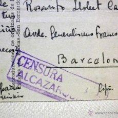 Postales: TARJETA POSTAL, MARRUECOS ESPAÑOL, ALCAZARQUIVIR, BARCELONA, CENSURA, 1943, LA EPOCA, SERIE B. Lote 47613797